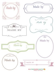 Whether you've made a handmade card or a gorgeous gift for a loved one, be sure to finish it off with the Free Printable Victorian Labels for Handmade Crafts. These free printable label templates are great for any kind of project. Printable Tags, Free Printables, Free Printable Labels Templates, Etiquette Vintage, Quilt Labels, Tampons, Vintage Labels, Handmade Crafts, Handmade Tags