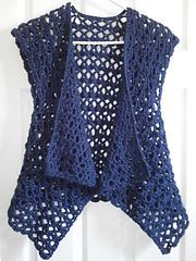 Ravelry: Mesh Vest pattern by Doris Chan. I'd like to make this shape but from material, preferably cotton or viscose.