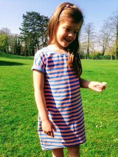 Nore in the sun!  Nore dress/tshirt - Compagnie M