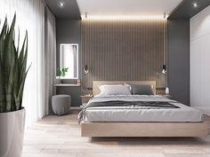 Bedroom on Behance Condo Bedroom, Room Design Bedroom, Bedroom Layouts, Home Room Design, Home Decor Bedroom, Bedroom Wall, Bedroom Ideas, Modern Luxury Bedroom, Modern Master Bedroom