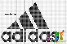 Adidas Graph Paper Drawings, Graph Paper Art, Knitting Charts, Knitting Patterns, Crochet Patterns, Cross Stitch Designs, Cross Stitch Patterns, Fair Isle Chart, Baby Booties Knitting Pattern