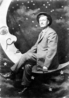 Curtis Jones sitting on the moon - Vernon, Florida. State Archives of Florida, Florida Memory.