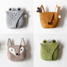 Fox Bag Doll Accessories Sewing For Kids Diy For Kids Toddler Boy Gifts Baby Couture Sewing Crafts Sewing Projects Felt Fabric Sewing Crafts, Sewing Projects, Craft Projects, Felt Pouch, Animal Bag, Kids Bags, Felt Toys, Felt Crafts, Kids Crafts