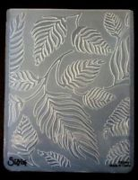 Sizzix Large Embossing Folder LEAF LEAVES fits Cuttlebug & Wizard