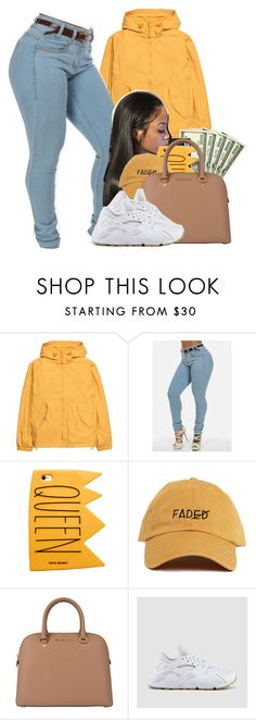 """"""""""" by heavensincere ❤ liked on Polyvore featuring H&M, MICHAEL Michael Kors and NIKE"""