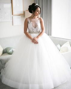 Real bride in Lazaro Style 3607