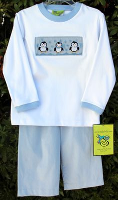 Stellybelly Penguin Pant Set