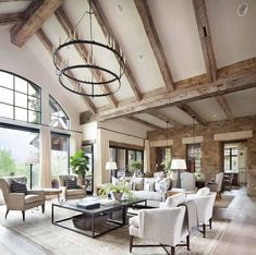37 Lovely Rustic Chic Living Room Decoration Ideas - Most people do not want to spend a lot of time decorating any certain room in the house. If you want to create a quick look in your living room that i. Chic Living Room, Spacious Living Room, Living Rooms, Tv Rooms, Game Rooms, Living Spaces, Room Lamp, Room Lights, Rustic Interiors
