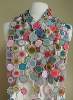 Lolipop scarf (Sophie Digard) - product, no pattern, but use as inspiration instead