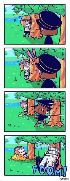 Memes Anime Animal Crossing New Ideas - Acnl Animal Crossing Fan Art, Animal Crossing Memes, Anime Animals, Funny Animals, New Memes, Funny Memes, Tumblr Co, Web Comic, Videos Fun