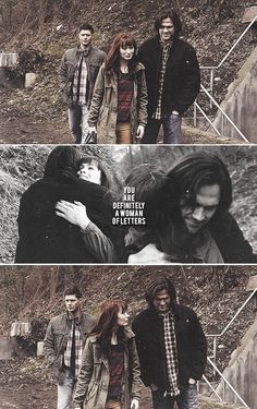 Sam Winchester and Charlie Bradbury: You are definitely a woman of letters. #spn