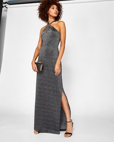 182ad3ae311b7 Front knot maxi dress Semi Formal Outfits