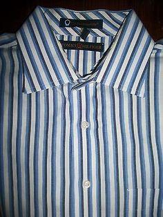 Tommy Hilfiger Men's Size L Long Sleeve Button Front Shirt 100% Cotton Pocket