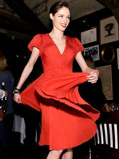 Star Tracks: Thursday, January 9, 2014 | A NEW TURN | Coco Rocha looks ravishing in red on Wednesday in New York City at the celebration for Brides magazine's February/March Issue, which features the model in designer Zac Posen's new bridal line.
