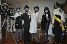 disfraz disfraces carnaval carnival costume original easy fácil divertido funny mejor the best film cine mudo blanco y negro gris grises grayscale escala gray