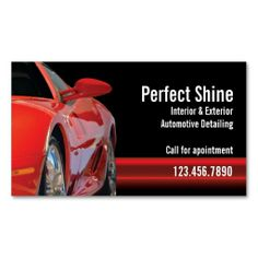 Car Detailing Business Card. I love this design! It is available for customization or ready to buy as is. All you need is to add your business info to this template then place the order. It will ship within 24 hours. Just click the image to make your own!