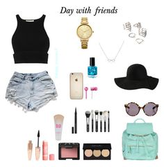 """""""day with friends"""" by hanwilloughby ❤ liked on Polyvore featuring Oasis, Forever 21, Adina Reyter, Atmos&Here, H&M, NARS Cosmetics, Maybelline, Proenza Schouler, Beats by Dr. Dre and Jonathan Simkhai"""
