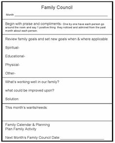 family council planner...  cool idea.