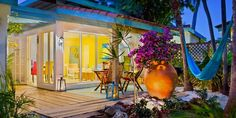 BBQ, grill, Hammock and tropical views, the best view in Aruba at Boardwalk Small Hotel Aruba Life is a Hammock