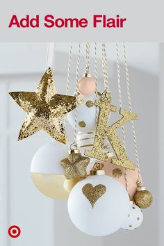 Whether you hang them on the tree, on their own or on a gift, these Sugar Paper baubles will add sparkle to your holiday. Christmas Love, Christmas 2017, All Things Christmas, Winter Christmas, Merry Christmas, Holiday Crafts, Holiday Fun, Holiday Decor, Advent
