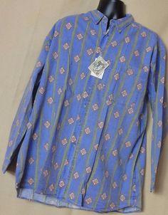 Pier Connection men's VTG NWT Multi Color, Cotton blend Shirt  Size XL #PierConnection #ButtonFront