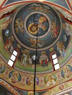 Byzantine Icons, Byzantine Art, Church Interior, Cathedral Church, Orthodox Icons, Bible Art, Christian Art, Fresco, Christianity