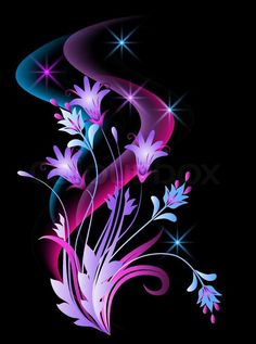 "Buy the royalty-free Stock vector ""Glowing background with flowers, butterfly and stars"" online ✓ All rights included ✓ High resolution vector file for . Beautiful Flowers Wallpapers, Beautiful Nature Wallpaper, Love Wallpaper, Colorful Wallpaper, Flower Backgrounds, Wallpaper Backgrounds, Art Fractal, Butterfly Wallpaper, Foto Art"