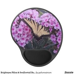 Brighteyes Phlox & Swallowtail Butterfly Gel Mouse Pad