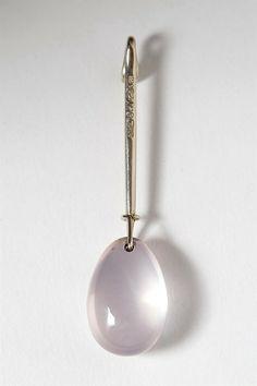 Pendant, designed by Torun Bülow Hübe for Georg Jensen, Denmark. 1960's.
