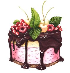 Cake with berries. on Behance