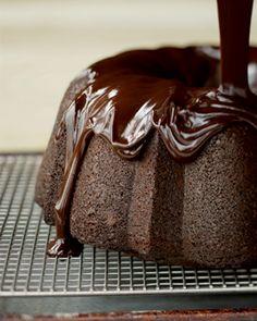 Ganache-glazed chocolate bundt cake - it's amaze-balls delicious