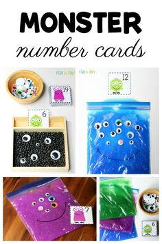Free printable monster number cards for preschool teachers. Love the different ways these number cards can be used. Craft Activities For Toddlers, Preschool Math Games, Lesson Plans For Toddlers, Numbers Preschool, Printable Activities For Kids, Preschool Teachers, Free Preschool, Preschool Printables, Early Childhood Activities
