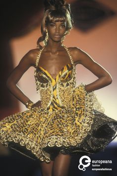 Beverly Peele | gianni_versace couture Spring 1992