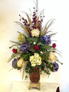 Hydrangea floral arrangement. Designed by Arcadia Floral & Home Decor
