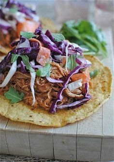 Slow Cooker Barbecue Chicken Sandwiches with Coleslaw make a great summer dinner from the slow cooker!  [From Bev Cooks via Slow Cooker from Scratch; part of a series of Slow Cooker Summer Dinners.]