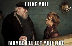 George Martin and Tyrion Lannister