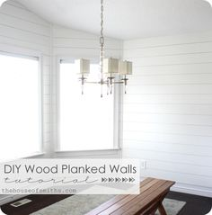 And yet another Planked Wall Tutorial!!! :) I think this one may be the easiest and least expensive option.
