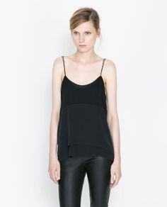 Image 1 of COMBINATION SILK CAMISOLE from Zara