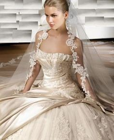 beautiful and stunning wedding gown