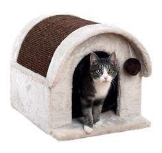 Je kat kan lekker luieren in dit leuke pluche kattenhuisje van Trixie of even de nagels scherpen aan het sisaldak. Kattenhuis Arlo wordt geleverd m...