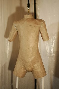Homemade Tailor Form from paper tape