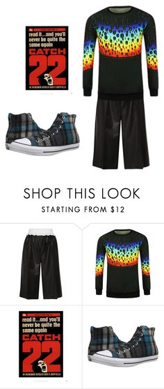 """""""Lazy Day"""" by wareaglefan ❤ liked on Polyvore featuring Converse, men's fashion and menswear"""