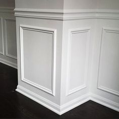 Portland Carpentry & Woodwork – Custom Built-Ins, Mantels, Wainscoting, & Crown - All About Decoration Dining Room Wainscoting, Wainscoting Panels, Wainscoting Ideas, Painted Wainscoting, Installing Wainscoting, Home Renovation, Home Remodeling, Paneling Makeover, Home Decor