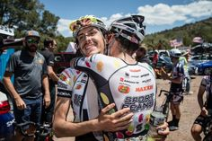 Lachlan Morton after winning stage one of the Tour of the Gila