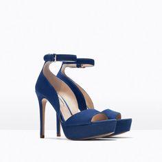 5c718390b8f34 ZARA - WOMAN - LEATHER PLATFORM HIGH HEELED SANDAL Women s Shoes Sandals