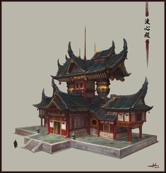 ArtStation - chinese temple, Chen Cheng