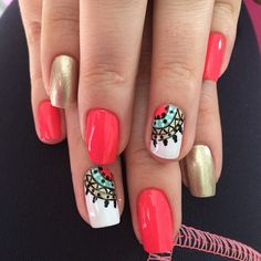 Nail Art Diy, Easy Nail Art, Diy Nails, Popular Nail Art, Gel Nails At Home, Short Nails Art, Nail Polish Art, Autumn Nails, Nail Arts