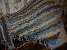 Crochet shawl mohair wool shawl