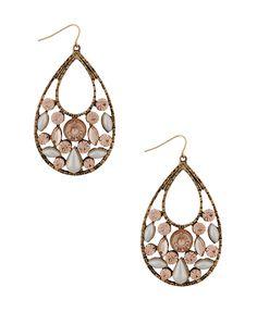Nera Chandelier earrings silver & rhodium | Earrings | Pinterest ...
