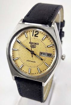 VINTAGE SEIKO 5 AUTOMATIC 21j MOVEMENT NO.6319A JAPAN MADE 35MM MEN'S WATCH.. #SEIKO5